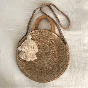 Zara circle jute bag